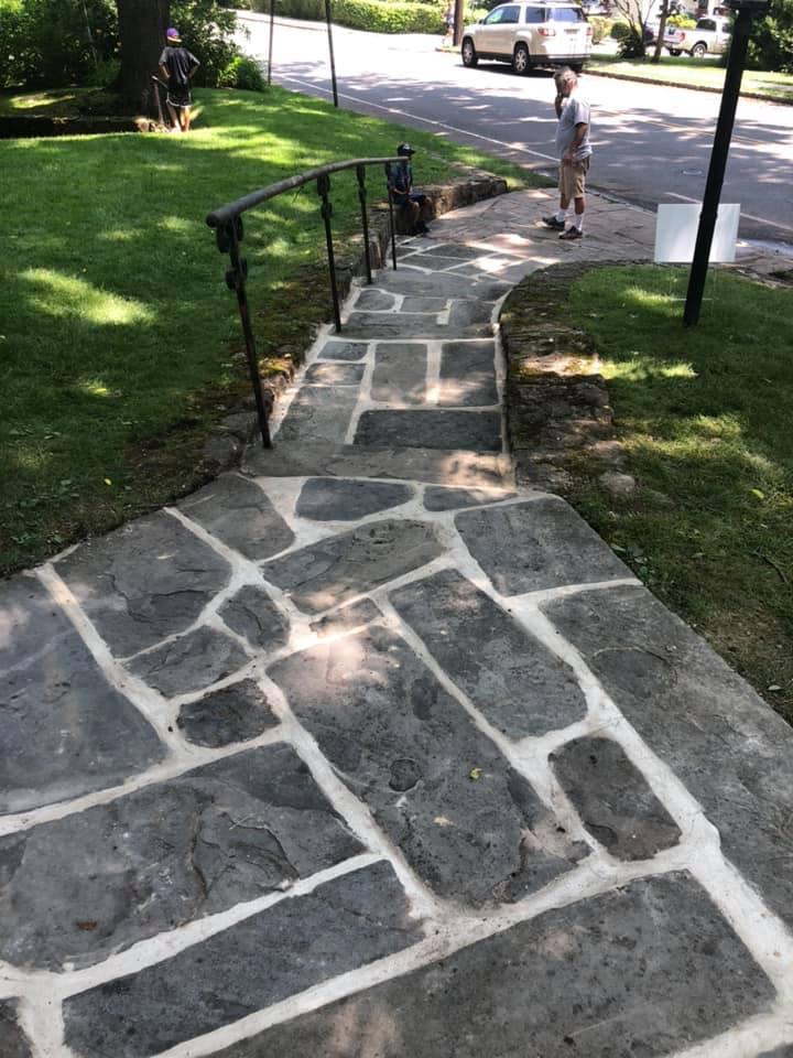 Old world blue stone walk way