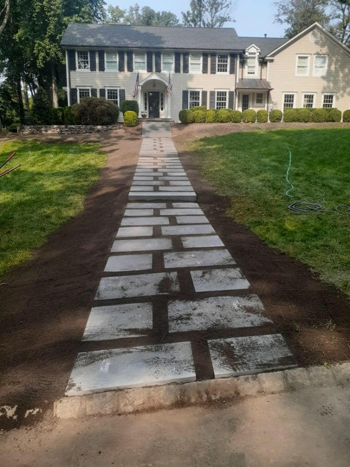 Bluestone walkway basking ridge