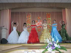 показ моделей на сцене