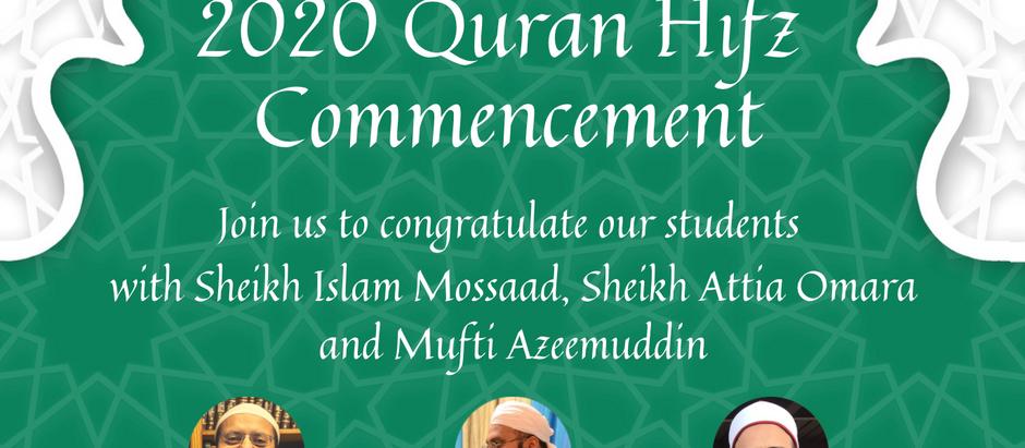 DUA Graduation on August 15th at 2:30 PM inshāAllah
