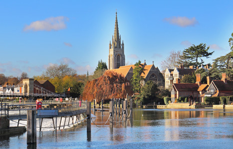 The River Thames at Marlow with Bridge,