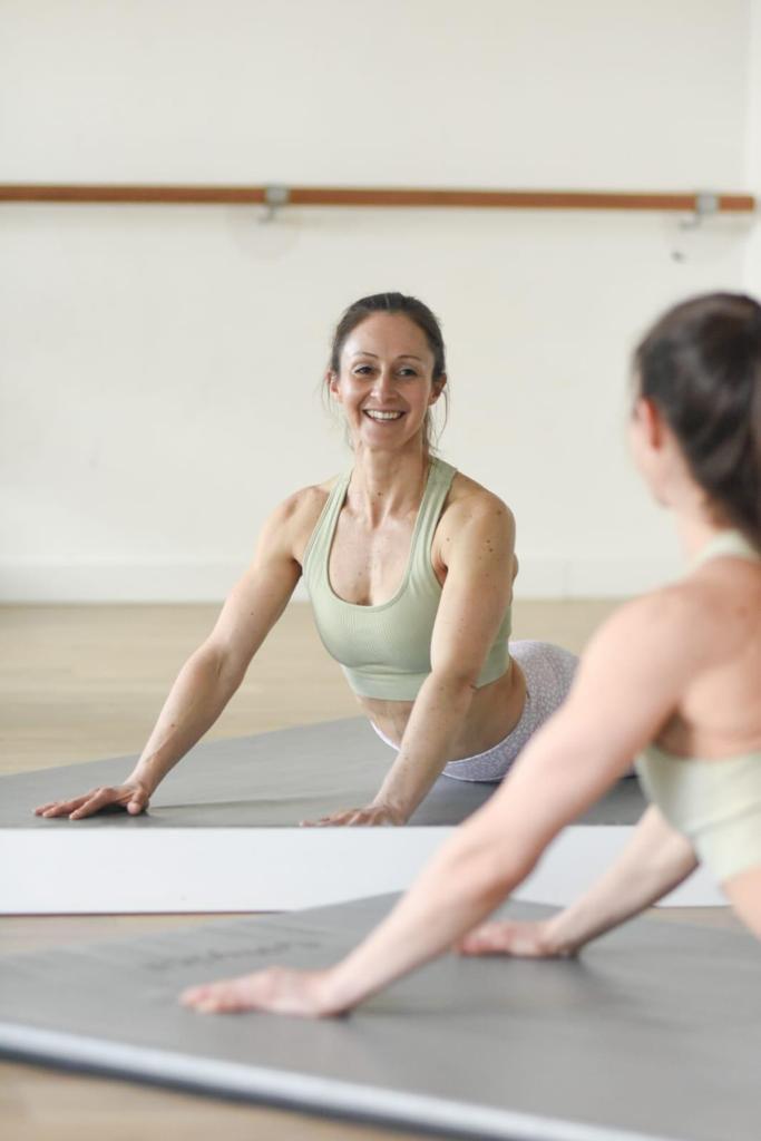 Mat Pilates in the studio