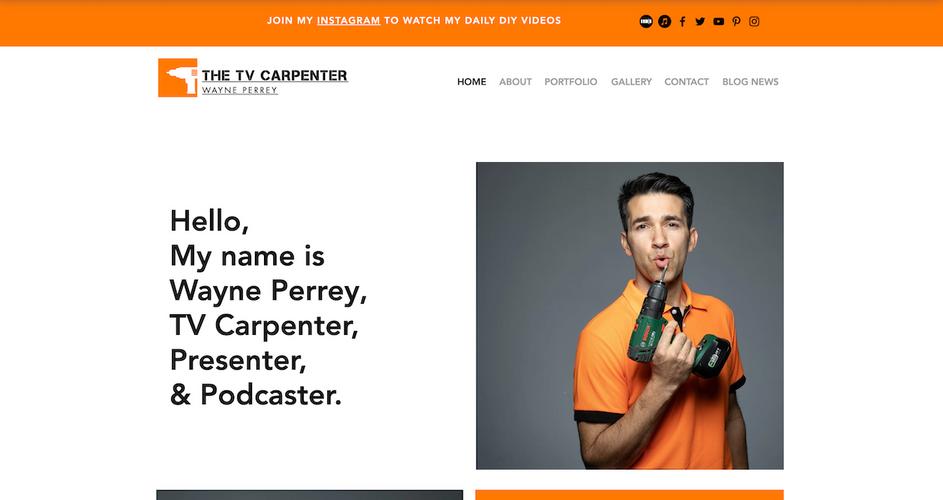 Website Design for The TV Carpenter