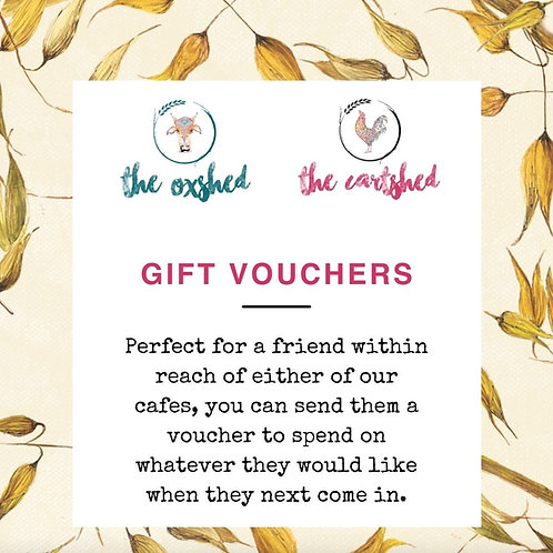 Cartshed & Oxshed Gift Vouchers