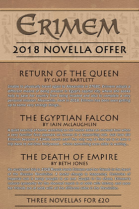 Erimem - first three novellas of 2018- worldwide