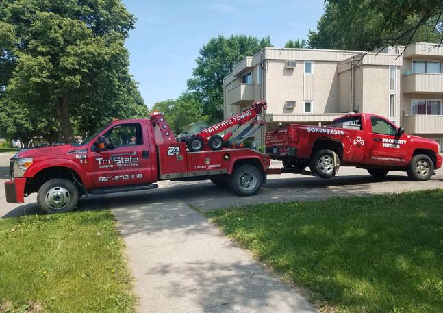 Trucks pulling trucks