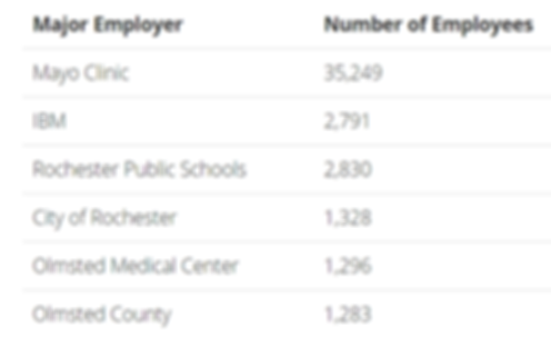 Rochester, MN Top 6 Major Employers