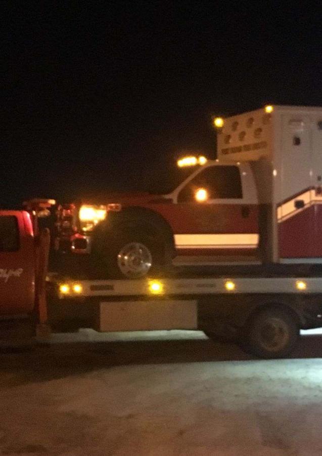 Flatbed ambulance tow
