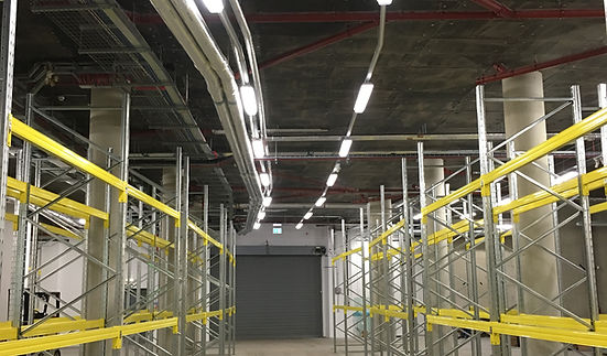 Electrical installation in warehouse