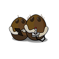 two coconuts playing video games