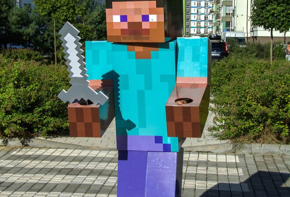 Minecraft Steve костюм