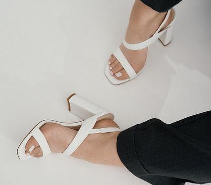 White Juliette Sandals