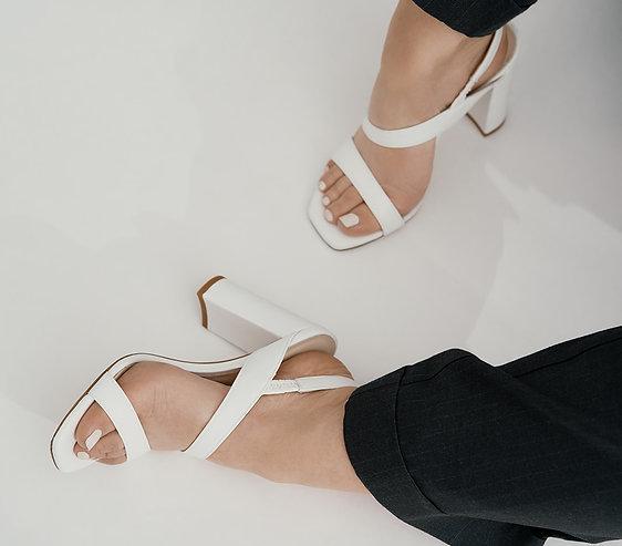 Sandales blanches Juliette
