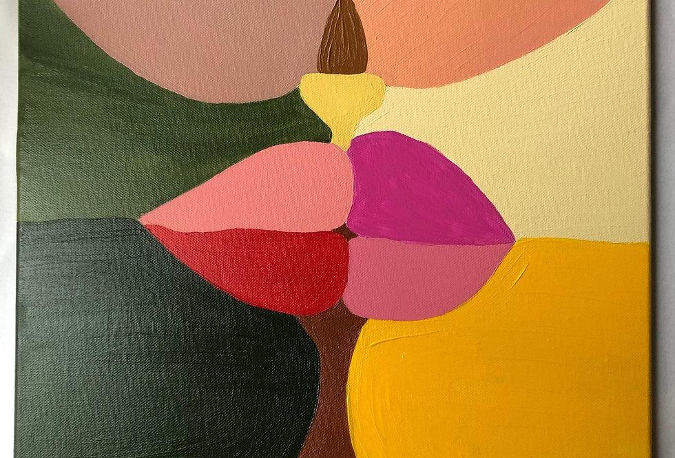 Peinture contemporaine Le Baiser