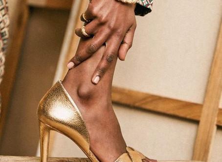 Sélection de sandales dorées