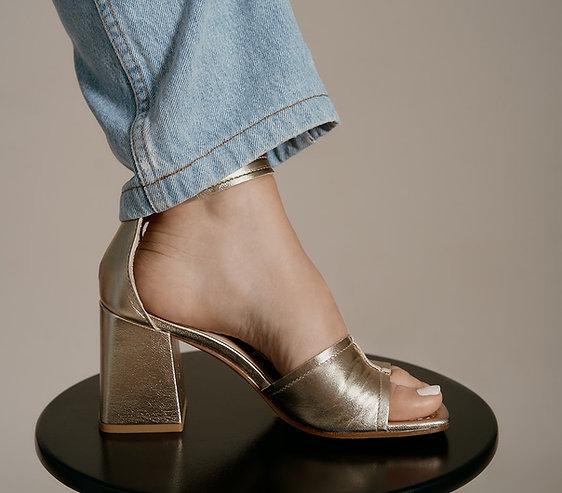 Sandales cuir doré SOFIA
