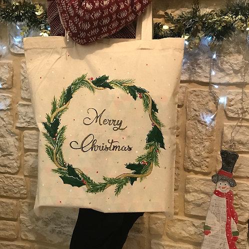 """TOTE BAG """"Merry Christmas"""""""