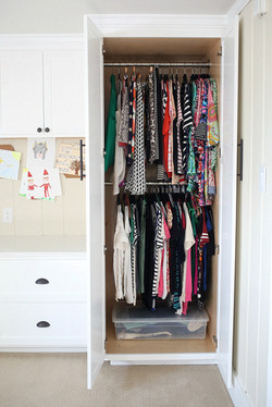 closet clothing storage