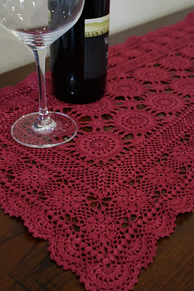 Lace table runner - Burgundy (02-043)