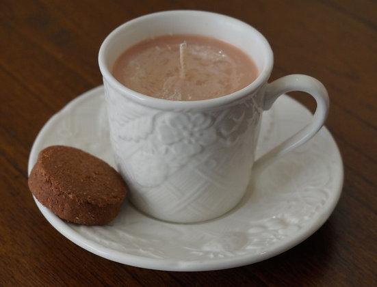 Repurposed CoffeeCup Candle-Chai&Caramel (02-047)