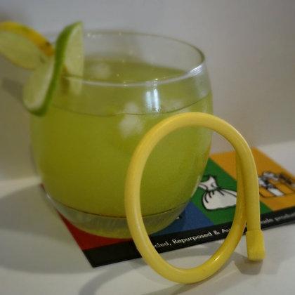 Knitting needle bracelet - yellow small (03-011)
