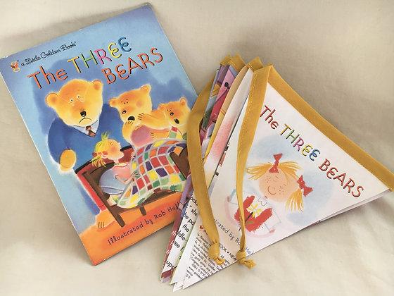 Childrens Book Bunting - Three Bears (07-002)
