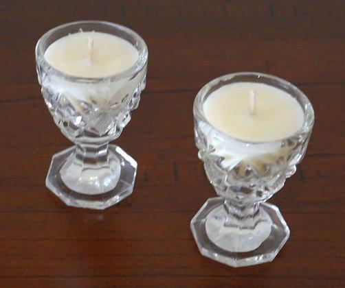 Crystal egg cups (pair) (02-036)