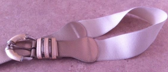 stretchy belt with chunky old buckle