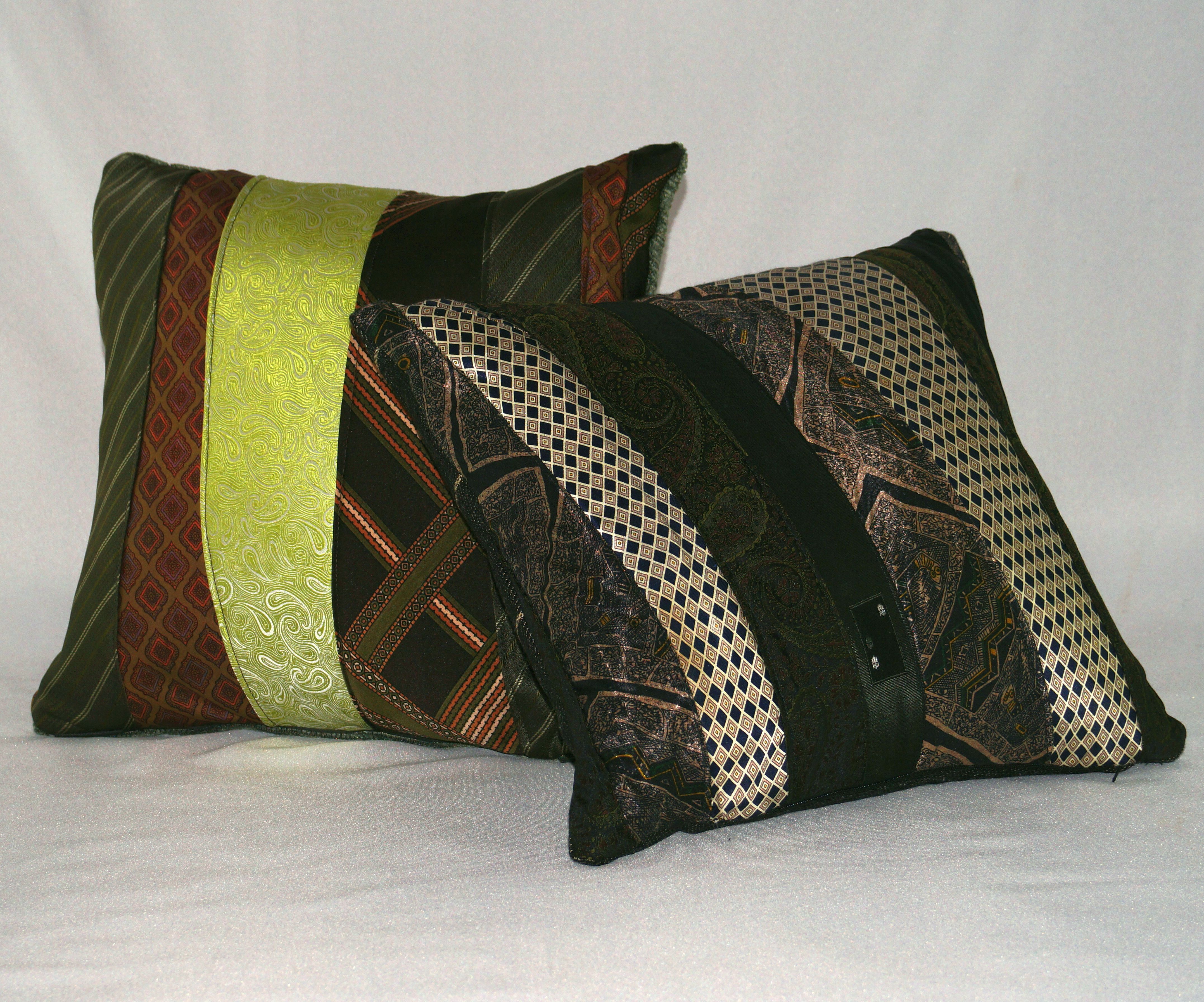 Upcycled Mens Tie Cushions Square_yoursandmineonline.JPG