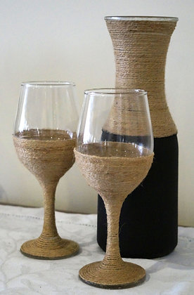 Carafe and Wine Glass set (02-018)