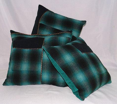 Upcycled Woollen Cushion Set (02-059)