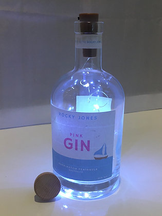 Pink Gin Bottle Lamp