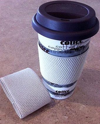 Upcycled Coffee cuff (single) - Cream (04-003)