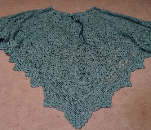 Lace Poncho/Skirt - teal large (03-003)