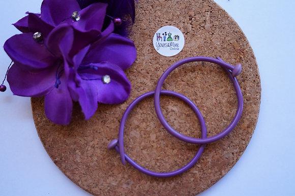Knitting Needle Bracelet - purple small (03-008)