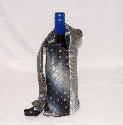 Mens Tie BYO Wine Bag BlueYellow (04-039)