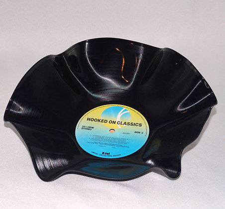 Upcycled LP Record Bowl-Hooked On Classics(02-044)
