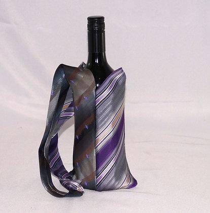 Mens Tie BYO Wine Bag Purple&Grey (04-032)