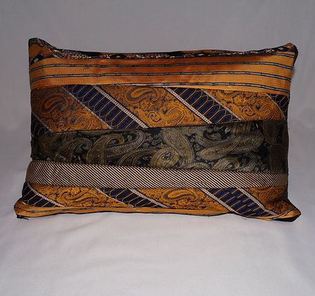 Upcycled Mens Tie Cushion-GildedVersace (02-070)