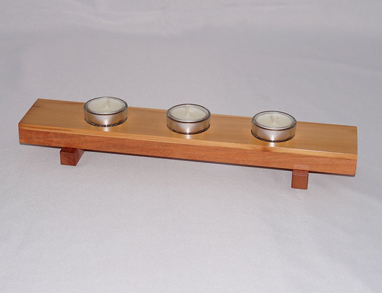 Timber tealight holder (02-010)