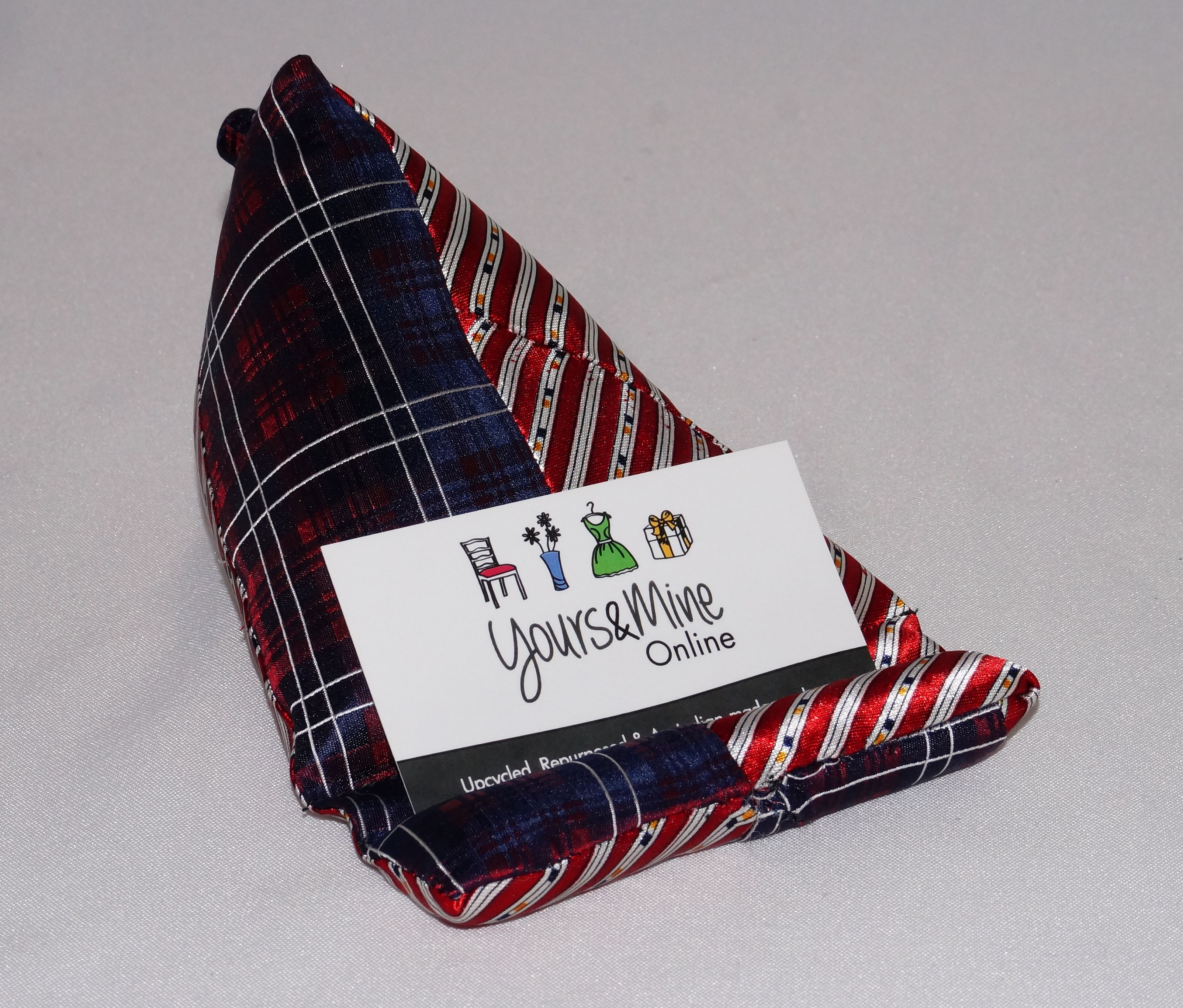 Upcycled-Tie-MobilePhone-Holder-Navy&Red_yoursandmineoline_LR.jpg