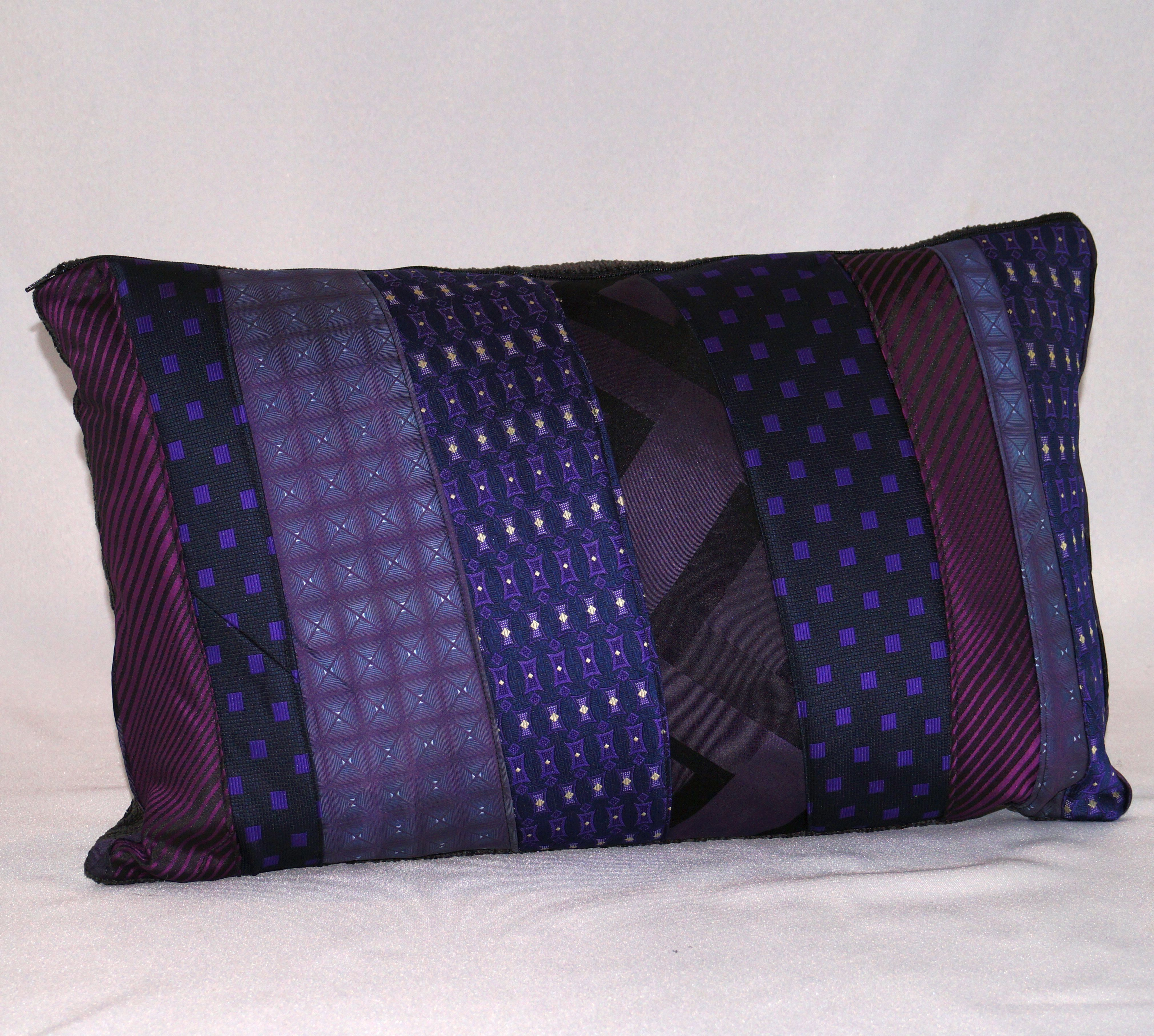 Upcycled-Tie-Cushion-Rectangle-Purple Rain_yoursandmineonline_LR.jpg