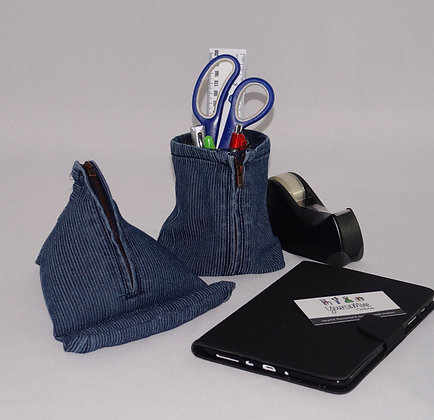 iPad/Kindle Holder&Bag Set, Denim (04-007)