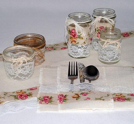 Hessian & Lace Celebration Set - Vintage Rose