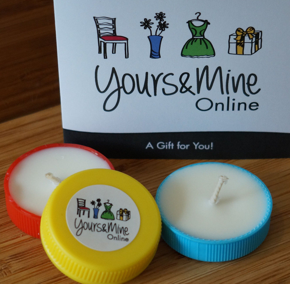 Yours&Mine Plastic bottle top tealight candles