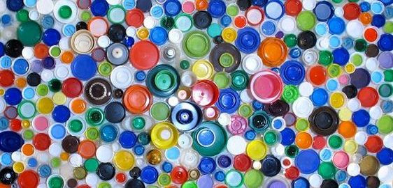 Upcycled art_plastic bottle tops-yoursandmineonline