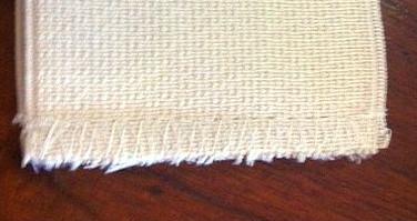 zigzag & plain hem stitching for coffee cuff