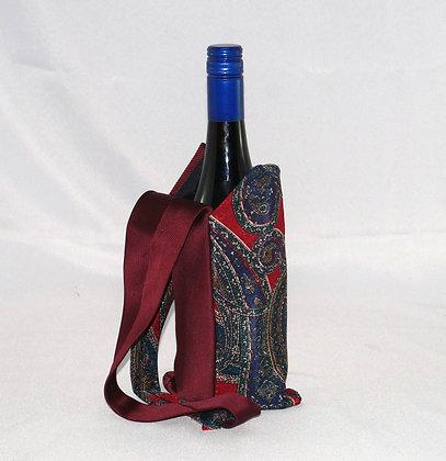 Mens Tie BYO Wine Bag Burgundy (04-040)