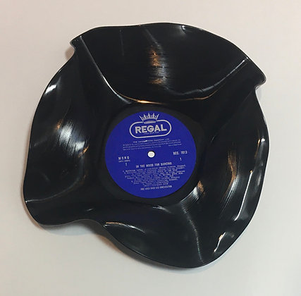 Upcycled LP Vinyl Record Bowl - In the Mood for Dancing