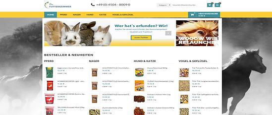 Onlineshop Homepage diefutterkammer.de